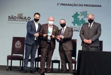 Taguaí recebe prêmio do Governo do Estado de São Paulo