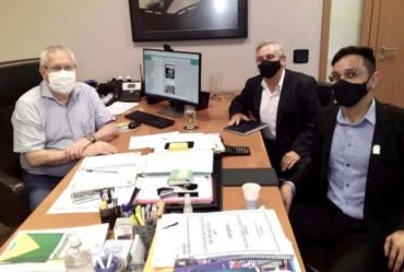Vice-prefeito, Pedro Langeli e vereador Filipe Dognani, de Fartura, visitam Sindpd