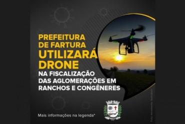 Prefeitura de Fartura utilizará drone para fiscalizar aglomerações em ranchos em congêneres