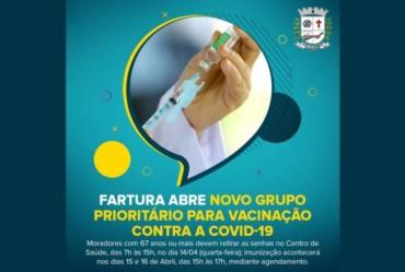 Fartura abre novo grupo prioritário para vacinação contra a Covid-19