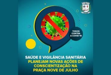 Saúde e VISA planejam novas ações na Praça Nove de Julho