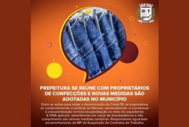 Prefeito de Fartura se reúne com proprietários de confecções e novas medidas são adotadas no município