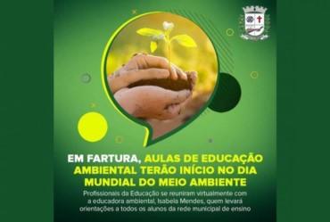 Em Fartura, aulas de Educação Ambiental terão início no Dia Mundial do Meio Ambiente