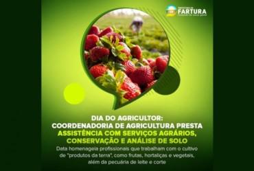 Dia do Agricultor: Coordenadoria de Agricultura presta assistência com serviços agrários, conservação e análise de solo em Fartura