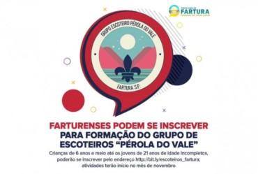 """Farturenses podem se inscrever para formação do Grupo de Escoteiros """"Pérola do Vale"""""""