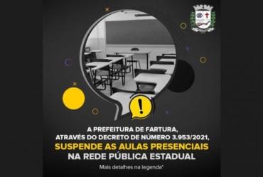 Fartura também suspende aulas presenciais da rede estadual