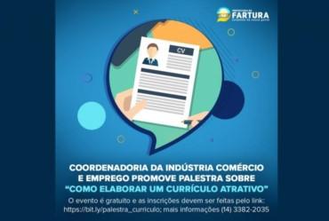 """Coordenadoria da Indústria Comércio e Emprego promove palestra sobre """"Como elaborar um currículo atrativo"""""""
