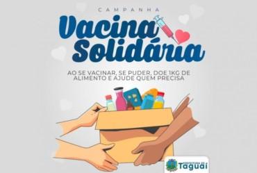 """Taguaí participa da """"Vacina Contra a Fome"""" do governo do Estado"""