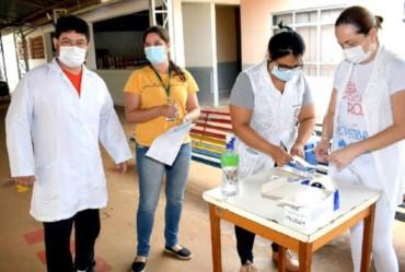 Idosos do Lar São Vicente de Paulo são imunizados contra a Covid-19