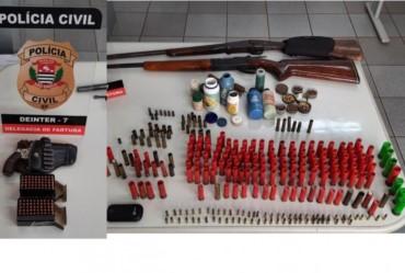Polícia Civil aprende armas e munições em Fartura