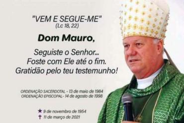 Arcebispo Dom Mauro morre em decorrência do covid-19