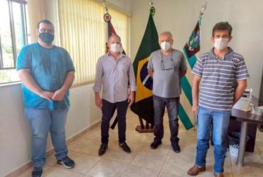 Edinho Fundão recebeu em seu gabinete o assessor do deputado federal Samuel Moreira (PSDB)