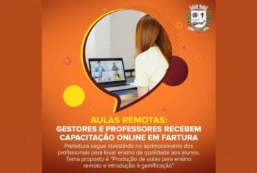 Aulas remotas: Gestores e professores recebem capacitação online em Fartura