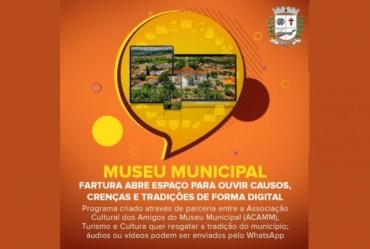 Museu Municipal: Fartura abre espaço para ouvir causos, crenças e tradições de forma digital