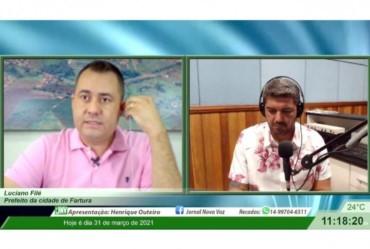 Prefeito concede entrevista sobre os 130 anos de Fartura