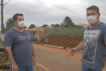 Parceria possibilita prolongamento de rede de esgoto em Itaporanga