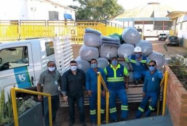Fundo Social de Avaré recebe doação de cobertores da Sabesp