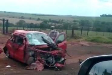 Mulher fica gravemente ferida em acidente em Itaí
