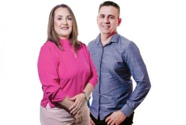 Candidatos Ana Luiza e Júnior Liute se apresentam para população