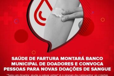Saúde de Fartura montará Banco Municipal de Doadores e convoca pessoas para novas doações de sangue