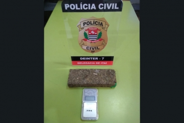 Ação da Polícia Civil termina com 1 preso e meio quilo de droga apreendida