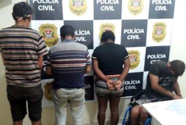Polícia Civil prende quatro suspeitos de roubar e matar idoso