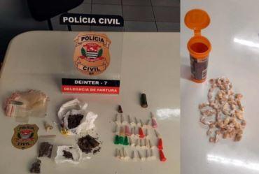 Operação da Polícia Civil prende três pessoas por tráfico em Fartura