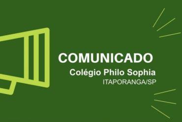 Comunicado: Colégio Philo Sophia de Itaporanga