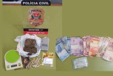 Polícia Civil de Itaí prende homem por tráfico de drogas