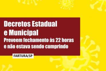 Reunião define fechamento de bares e restaurantes às 22 horas em Fartura