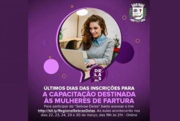 Fundo Social: Últimos dias das inscrições para a capacitação destinada às mulheres de Fartura