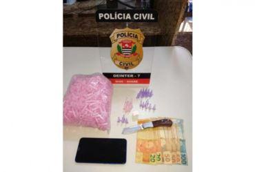 COMERCIANTE É PRESO PELA POLÍCIA CIVIL POR TRÁFICO DE DROGAS EM AVARÉ