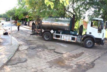 Prefeitura de Fartura reinicia recape de ruas no Parque das Flores