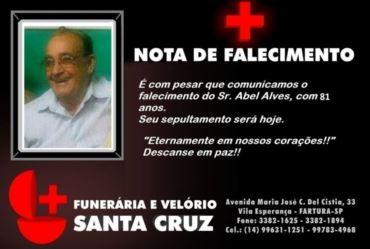Morre seu Abel Alves aos 81 anos de idade