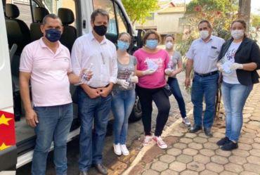 Prefeitura de Timburi inicia novas distribuições de máscaras e álcool em gel para população