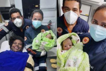 Samu de Fartura realiza parto dentro da ambulância durante a madrugada