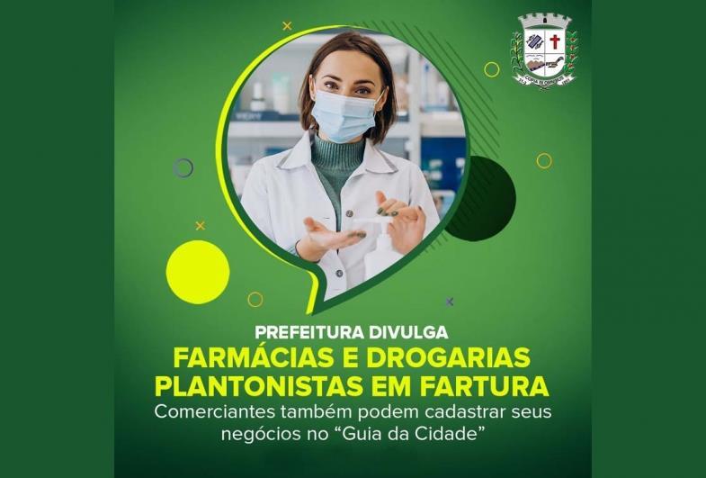 Prefeitura divulga farmácias e drogarias plantonistas em Fartura