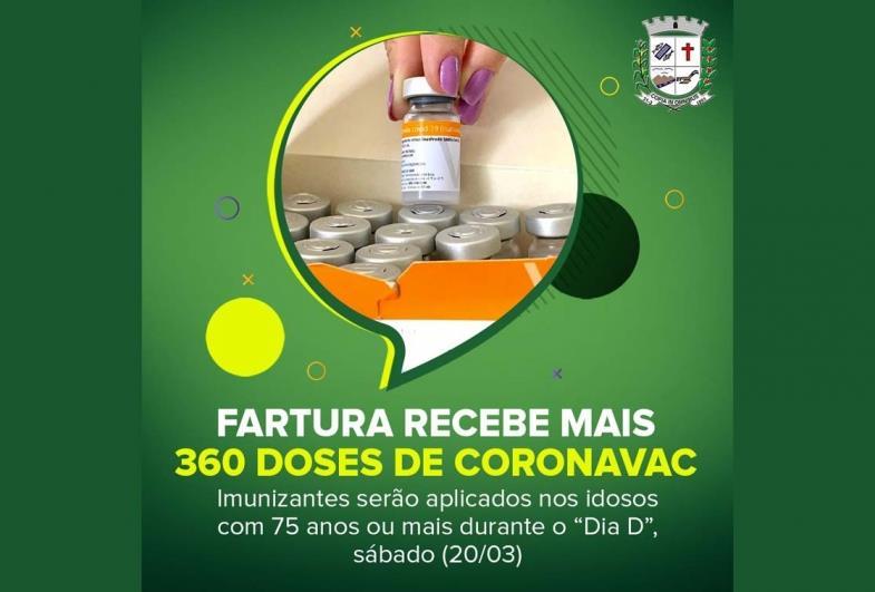 Fartura recebe mais 360 doses de CoronaVac