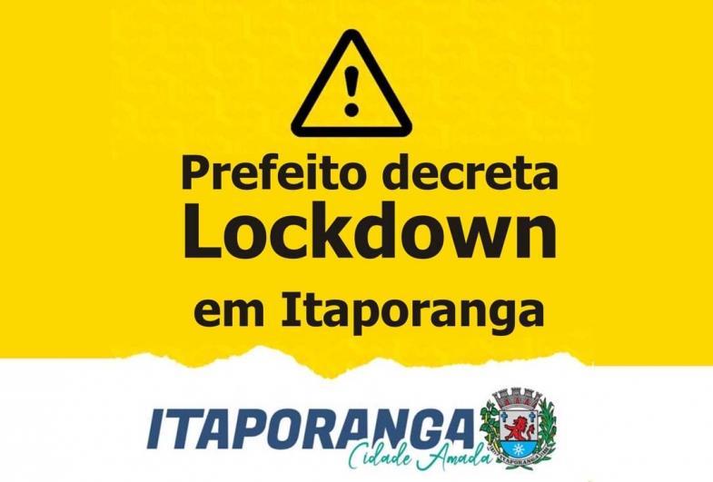 Prefeito decreta Lockdown em Itaporanga