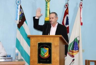 Edinho Fundão é empossado prefeito de Taguaí em definitivo