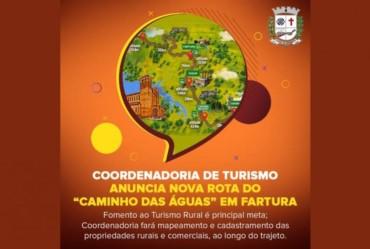 """Coordenadoria de Turismo anuncia nova rota do """"Caminho das Águas"""" em Fartura"""