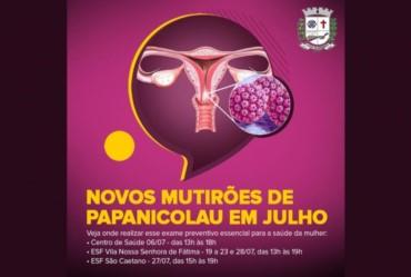 Centro de Saúde e ESFs Vila Nossa Senhora de Fátima e São Caetano realizam novos Mutirões de Papanicolau no mês de julho