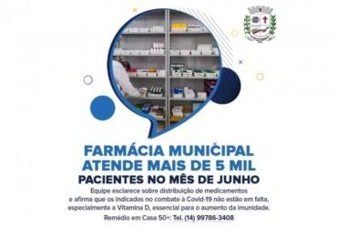 Farmácia Municipal de Fartura atende mais de 5 mil pacientes no mês de junho