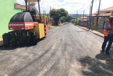 Prefeitura de Itaporanga realiza recape da Rua Antônio Briene de Camargo