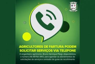 Agricultores de Fartura podem solicitar serviços via telefone
