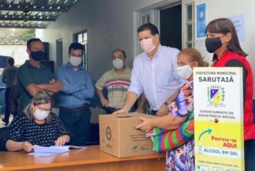 Coordenador estadual da CATI acompanha a entregas dos Kits Verdes em Sarutaiá