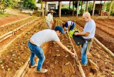 """Timburi começa o projeto """"Horta Comunitária dos Idosos"""""""