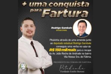 Pitukinha conquista mais R$ 150 mil para Fartura