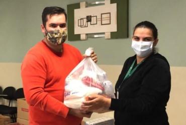 """Campanha """"Quarentena Solidária"""", da Acif, destina mais de 1,5 tonelada de alimentos para serem entregues às famílias de Fartura"""
