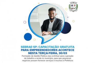 Sebrae-SP: Capacitação para empreendedores acontece nesta terça-feira, 30/03